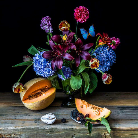 Melon and Flowers