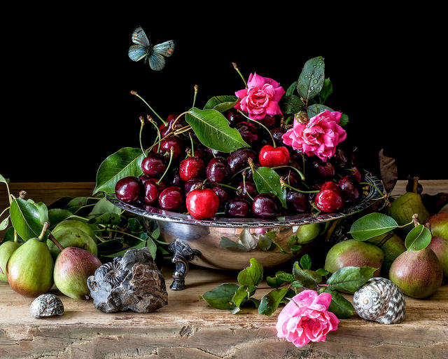Cherries  and Roses