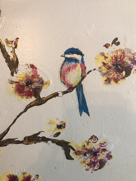 "acrylic on two canvas 10x10"" each"