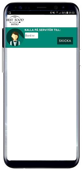 tillkalla servitör app mobil paidit