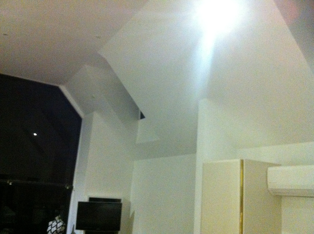 Low sheen on ceilings and walls