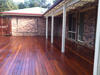 Staining deck, ballustrades, privacy screens & painting balcony
