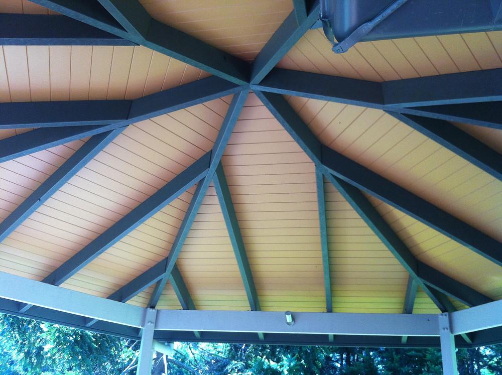Gazebo ceiling & rafters