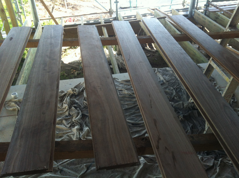 Spotted gum timber cladding