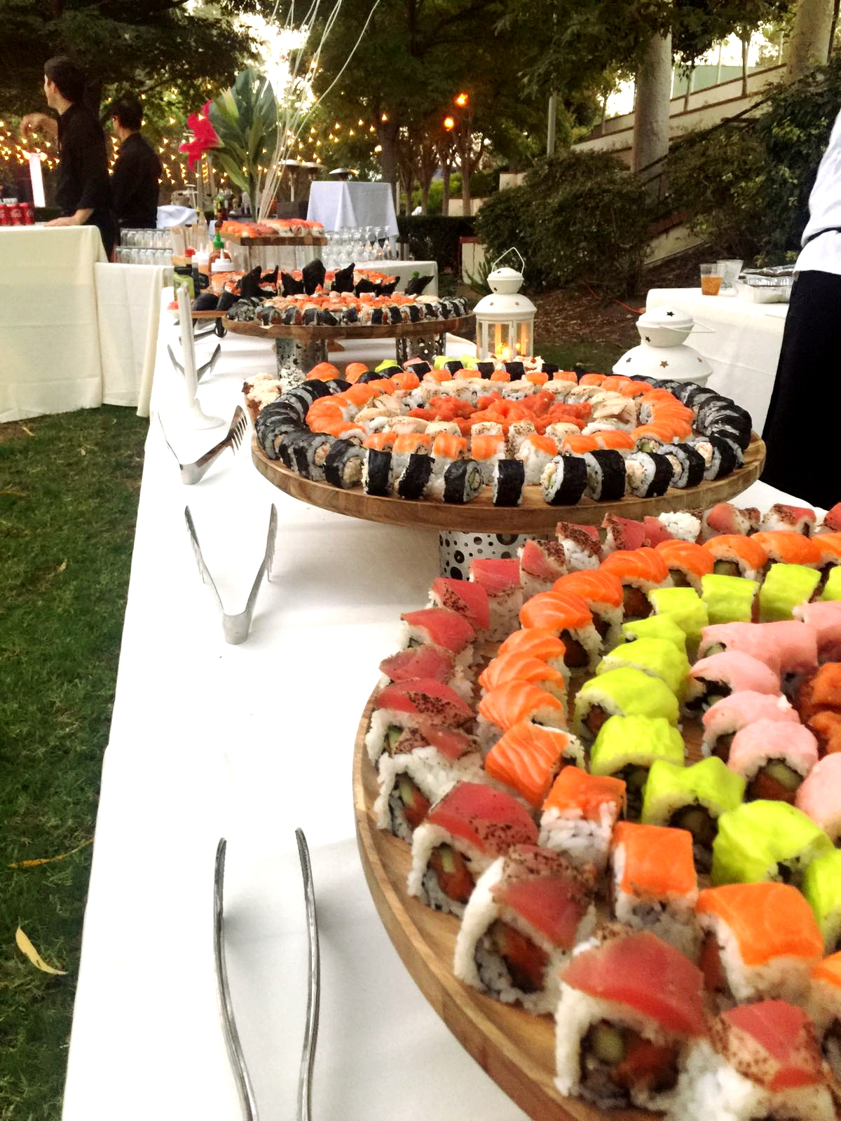Sushi outdoor wedding