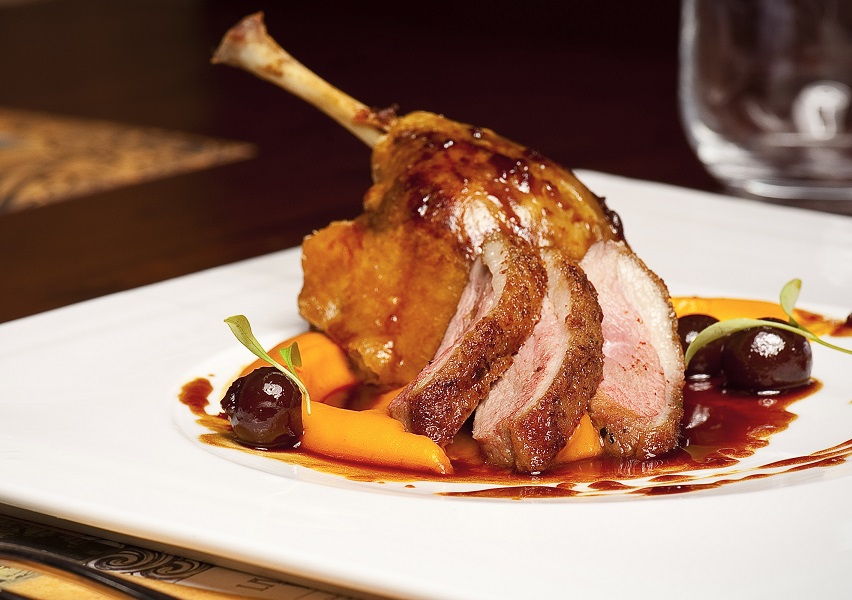 roasted duck with cherry gastric
