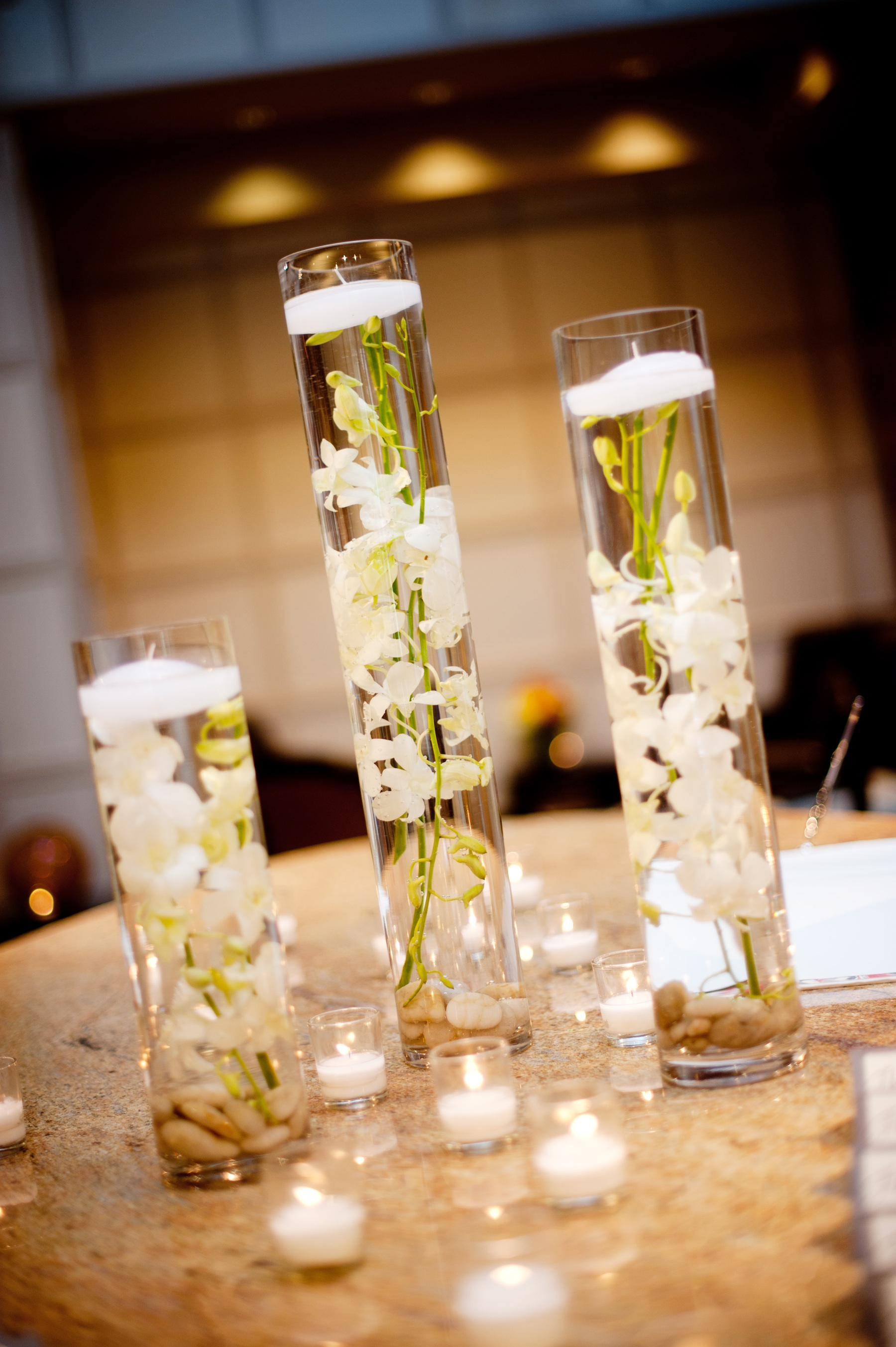 orchid center pieces