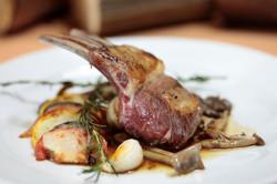 lamb chop rosemary & wild mushrooms