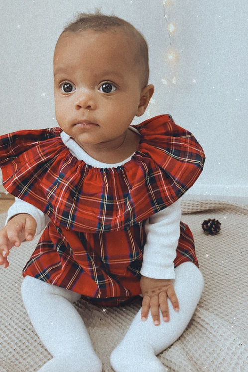 100 % cotton tartan dress & panties