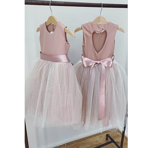 Blush pink sparkly tutu dress