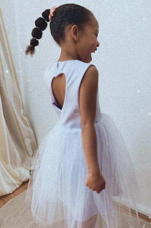 Soft tulle heart back tutu dress