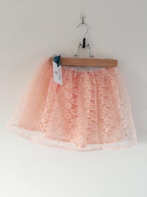 Peach lace skirt