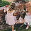 Thumbnail: Laced ribbon tie back tulle dress