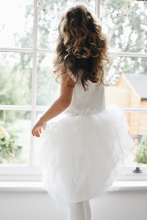Cotton rara tulle dress
