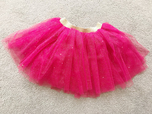 Bright pink & gold sparkly tutu