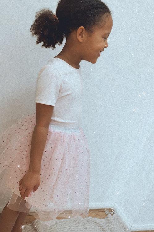 Pink sparkly tutu skirt
