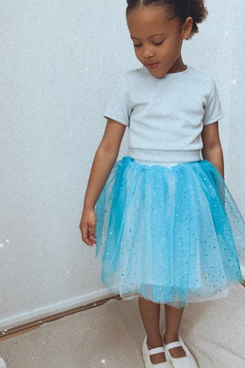 Blue sparkly tutu skirt