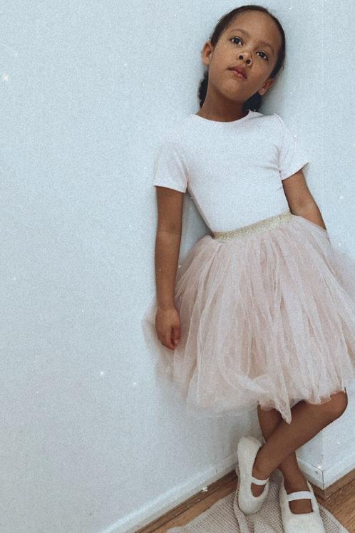Blush pink tutu skirt
