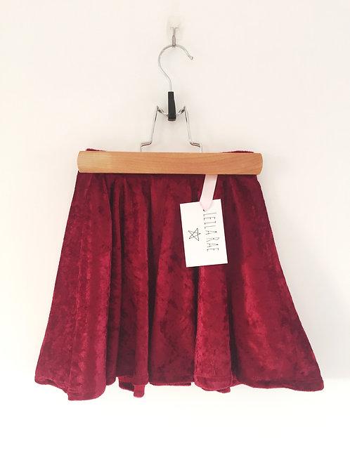 Crushed velvet circle skirt