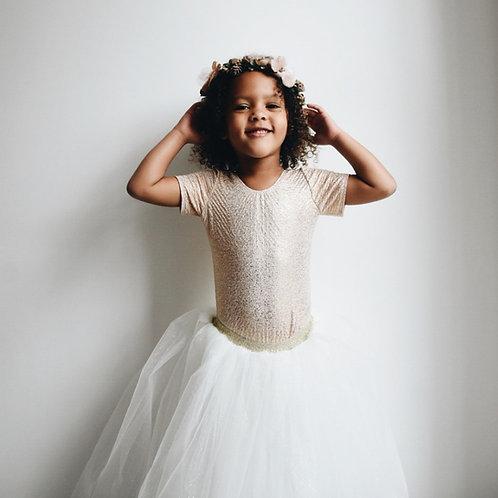 Long sparkly tutu skirt