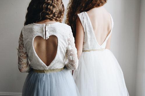 Long sleeve lace heart back leotard