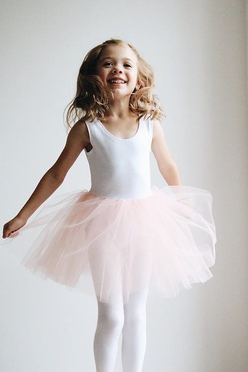 Ivory & blush tutu leotard dress