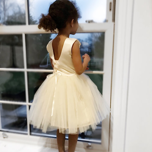 Satin Laced ribbon tulle dress