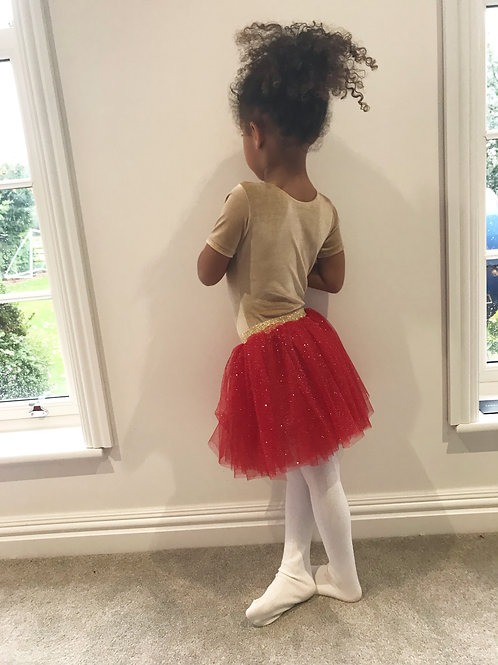 Red & gold sparkly tutu
