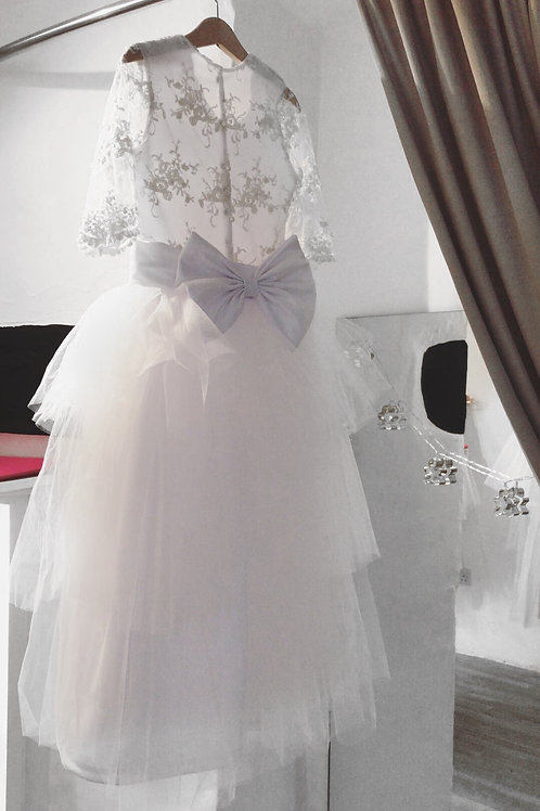 Embroidered Tier tulle dress