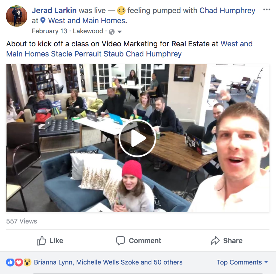 Real Estate Facebook Live at West + Main Homes