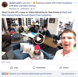Real Estate Facebook Live at West + Main Homes