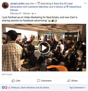 Real Estate Facebook Live