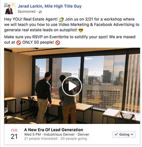 Real Estate Facebook Advertisement