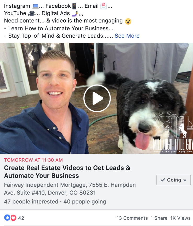 Real Estate Facebook Advertisement Event