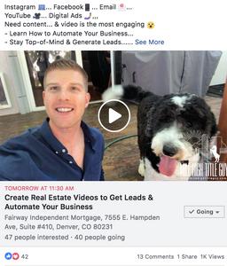 Real Estate Facebook Advertisement Event