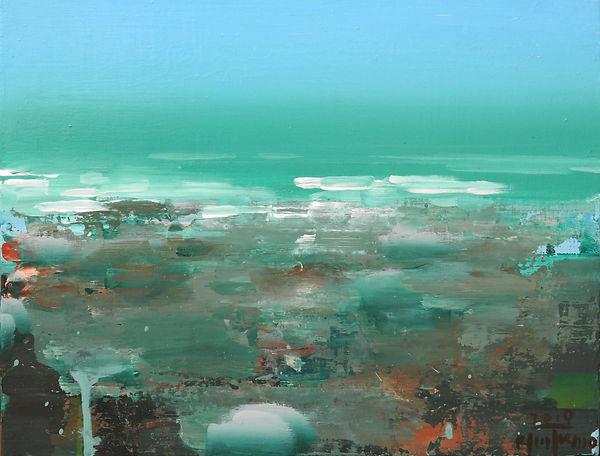 김익모, abstract landscape1971,60+41cm,acrl