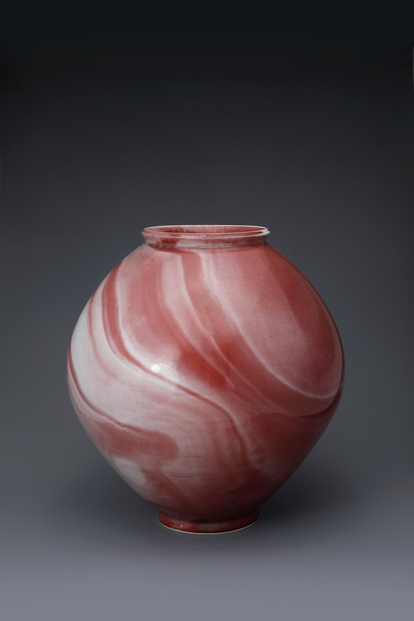 """Copper Red Jar "" (The flight of two cra"