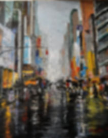 Rainy New York