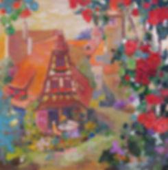 로텐브룩 마을 53x53 윤향남 oil on canvas 2014.jpg
