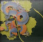 가호-청룡 blueDragon  45.0x 45.0 oil on poly