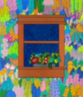 Window2, 53x45cm, Gouache on BFK Printma