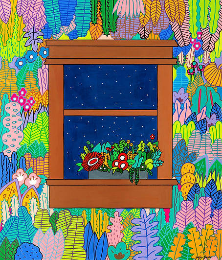 Window2, 53x45cm, Gouache on BFK Printma