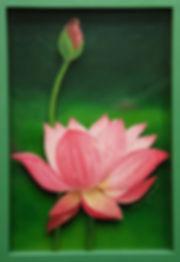 연꽃 Lotus 35.0x24.0  oil on polycarbonate