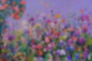 아이리스 뜰 90.9x60.6 윤향남 oil on canvas 2016.