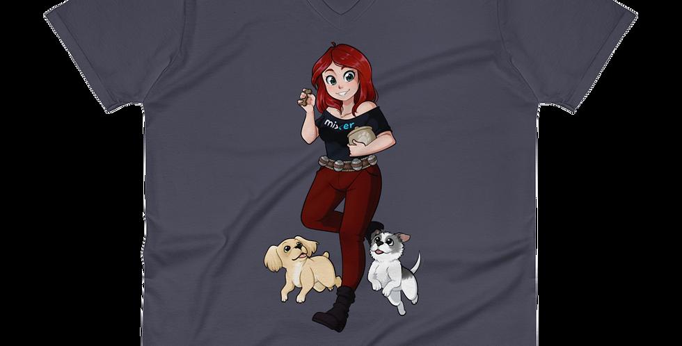 MargoMagik Pups V-Neck T-Shirt