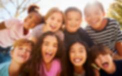 Multi-ethnic group of schoolchildren on