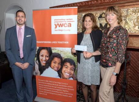 Blue Summit donates Award to YWCA Domestic Violence Program