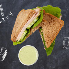 Turkey Provolone Sandwich with Pesto