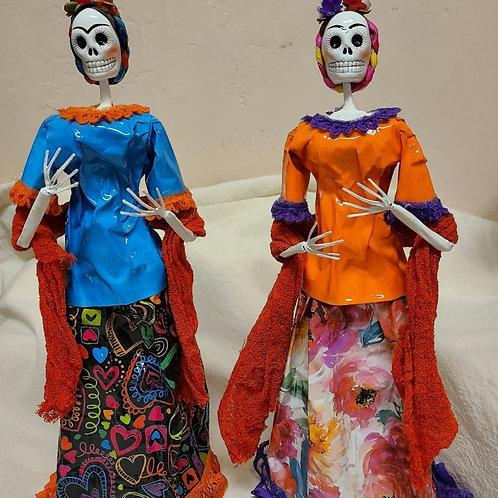 Frida Skeleton Doll