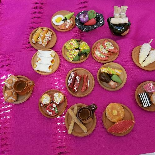 Set of Mexican Food Plates (comiditas)